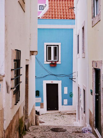 The narrow streets of Alfama