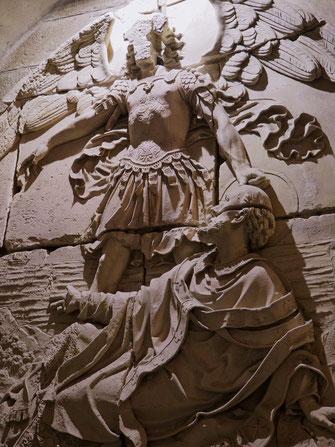 Sculpture, Abbey, Abbaye, Mont-Saint-Michel, Baie du Mont-Saint-Michel