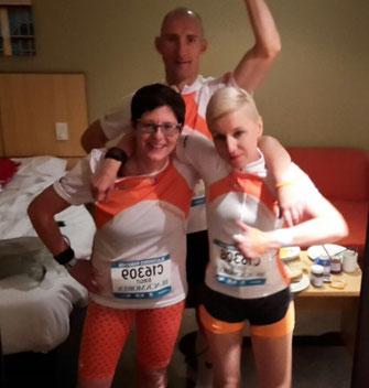 Birgit, Andy und Edy kurz vorm Start