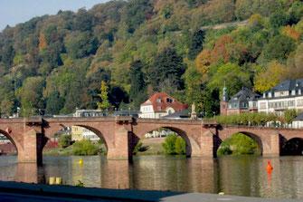 Heidelberg. Die alte Brücke.