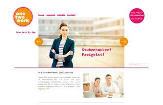 Branddesign und Internetauftritt one-two-work