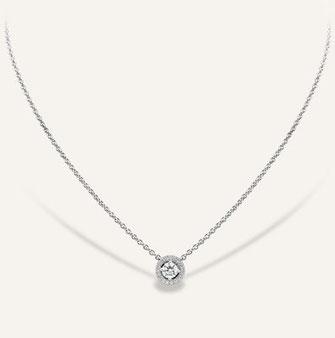 Anhänger aus 18-Karat Weissgold mit einem runden Diamanten