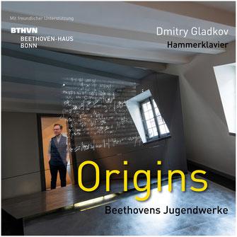 """CD und Booklet """"Origins – Beethovens Jugendwerke"""" von Dmitry Gladkov"""