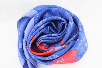 Carré de soie Fanfaron Bassin d'Arcachon Bordeaux Made in France Foulard