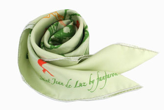 Carré de soie Fanfaron Saint Jean de Luz Pays Basque Made in France Foulard