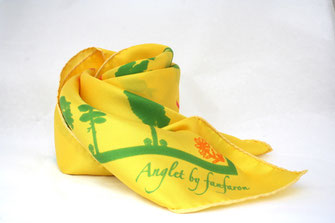 Foulard Soie Anglet Fanfaron Made in France Pays Basque