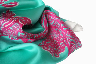 Carré de soie Fanfaron Grands Crus Bordeaux Made in France Foulard