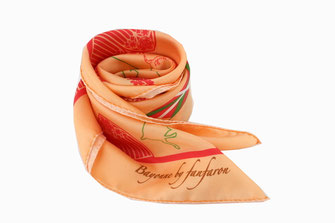 Carré de soie Fanfaron Bayonne Pays Basque Made in France Foulard