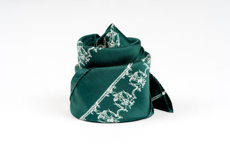 foulard fanfaron carre de soie made in france josephine empire