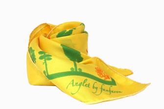 Carré de soie Fanfaron Anglet Pays Basque Made in France Foulard