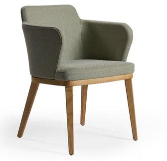 Evia Doos silla sillón de comedor, despacho, instalación tapizado moderno