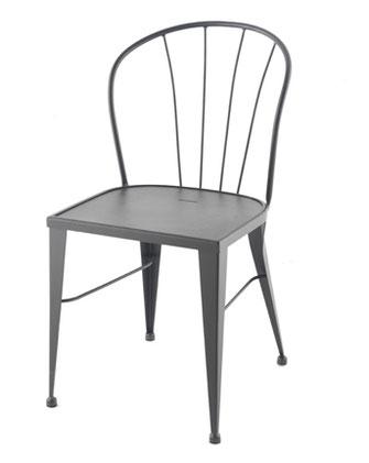 silla de terraza exterior metálica apilable