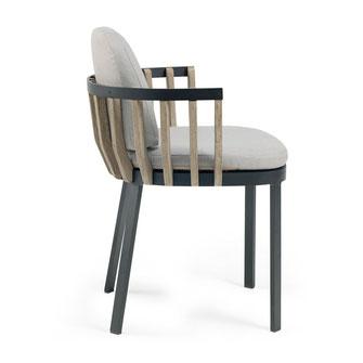 swing ethimo sillón de diseño de teka para terraza interior y exterior moderno comedor la cadira