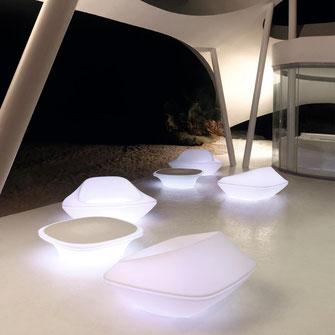 butaca de exterior con luz  ufo by Ora Ito Vondom La Cadira