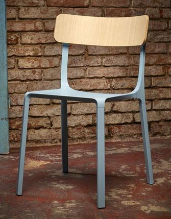 Ruelle infinitidesign silla moderna de aluminio y madera retro vintage