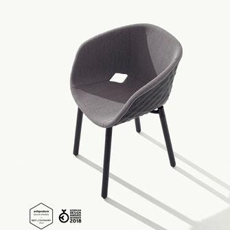 Uni - ka 601 m metalmobil estructura de madera, polipropileno tapizado La Cadira