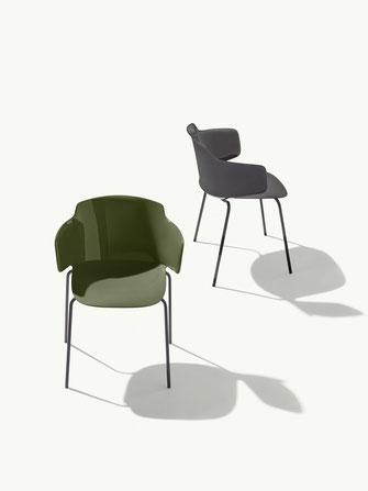 classy silla con brazos para terraza y jardín metalmobil et al