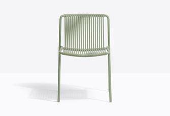 Tribeca 3660 silla de terraza acero con trenzado pedrali