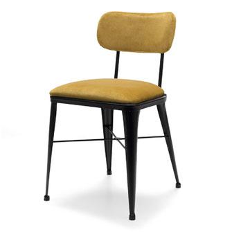 Aiko silla industrial vintage tapizada de comedor hosteleria cocina casual solutions