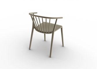 Sillón para exterior outdoor apilable Woody Josep Lluscà Resol La Cadira