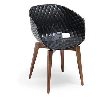 sillón Uni ´ka 599 metalmobil, estructura de madera y polipropileno