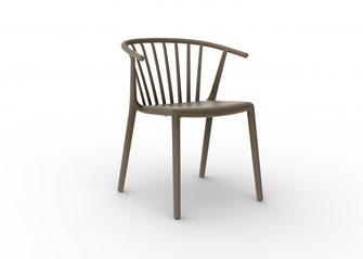 Woody silla para outdoor exterior plastificado Josep lluscà Resol La Cadira