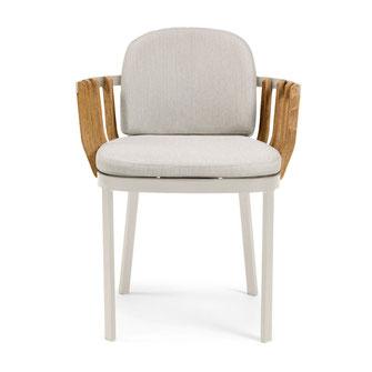 Swing ethimo sillón teka para terraza exterior comedor la cadira