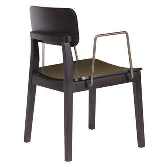 Paola silla con brazos de comedor, restaurante asiento y respaldo en madera Casual Solutions