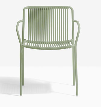 Tribeca 3665 pedrali sillón de terraza acero y trenzado
