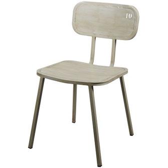 Drina alutec silla vintage metálica de cafeteria restaurante con número