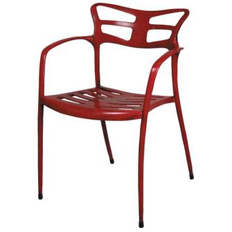 sillón de diseño vintage gaudí en aluminio para interior y exterior terraza y jardín liceo alutec
