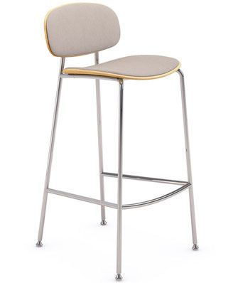 Tondina kitchen stool tapizada