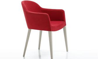 Diavolo sillón de comedor tapizado