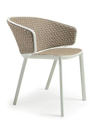 Pluvia sillón cuerda para exterior terraza ethimo la cadira