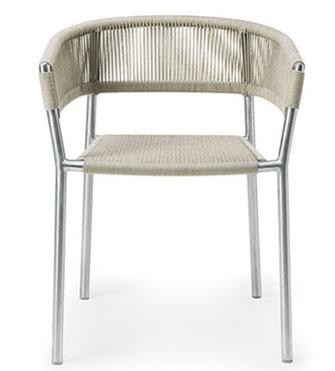 Kilt ethimo sillón acero inoxidable cuerda para exterior la cadira