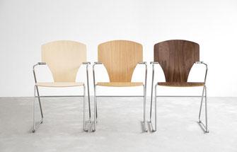 silla moderna de comedor oficina madera Egoa Stua lacadira.com