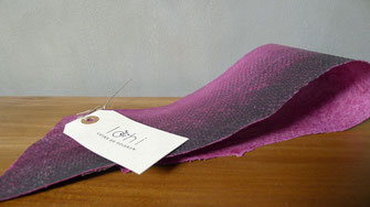 Cuir de saumon violet