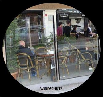 Windschutz in Ihrem Caffee - Ihr Shop wird edler und angenhmer, das widerum bringt mehr Gäste