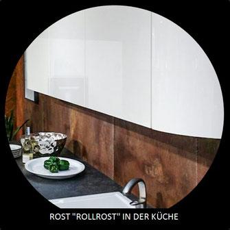 Küchenrückwand schnell u. einfach - Rost; Beton; Schiefer; Solid-Surface;...