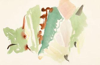 "Leopold Ganzer, ""49-01-20"", 1^988, Aquarell auf Büttenpapier, 37,5 x 57 cm"