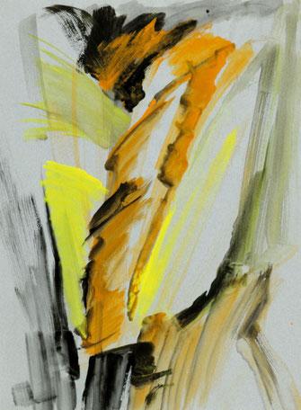 """Leopold Ganzer, """"08-07-05"""", 1987, Mischtechnik auf Papier, 64,5 x 57,5 cm"""