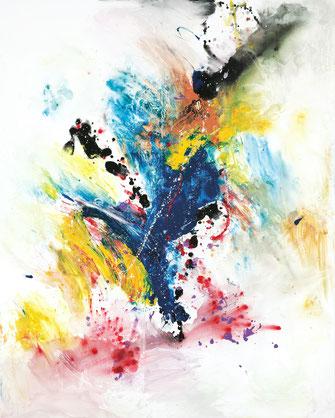 "Sinasi Bozatli, ""Color of Mediterrane"", 2020, Acryl auf Leinwand, 200 x 160 cm"