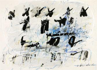 Ausstellung Hans Staudacher in der galerie artziwna, Ohne Titel, Mischtechnik auf Papier