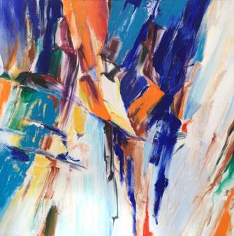 "Leopold Ganzer, ""0329-03-86-05"",  1986, Acryl auf Leinwand, 150 x 150 cm"