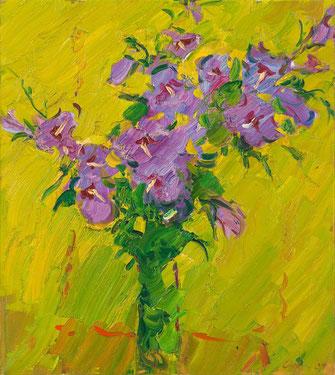 Viktor Lederer, Selbstbildnis, 1988, 90 x 80 cm,  Öl auf Leinwand,