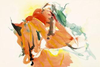 "Leopold Ganzer, ""21-01-20"", 1988, Aquarell auf Büttenpapier, 38 x 56,5 cm"