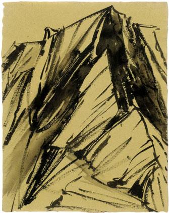 """Leopold Ganzer, """"01-84-10"""", 1998, Tusche auf Papier, 51 x 40 cm"""