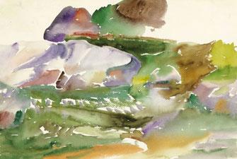 "Leopold Ganzer, ""76-06"", 1976, Aquarell auf Büttenpapier, 38 x 56,5 cm"
