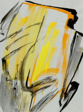 """Leopold Ganzer, """"08-87-04"""", 1987, Mischtechnik auf Papier, 64,5 x 47,5 cm"""