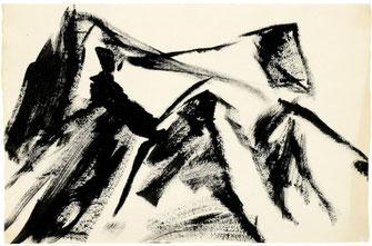 """Leopold Ganzer, """"01-84-22"""", 1984, Tusche auf Papier, 40,5 x 62 cm"""